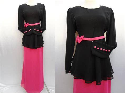 Baju Peplum Hitam hanni mansor room 017 9510255 baju peplum hitam pink rm 145