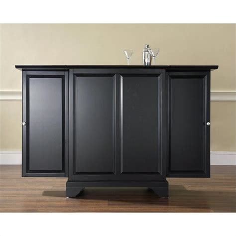 crosley furniture lafayette expandable cabinet black