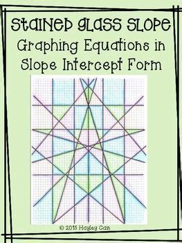 Stained Glass Window Worksheet by Stained Glass Slope Graphing Linear Equations In Slope
