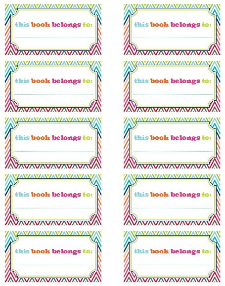 book labels template iheart organizing our new bookplates a freebie for you