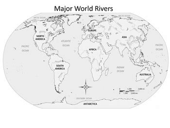 major world rivers map major world rivers outline map by historyhound tpt