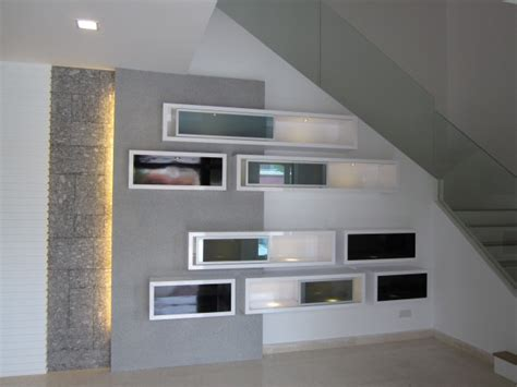 house lighting design in malaysia feature wall display cabinet