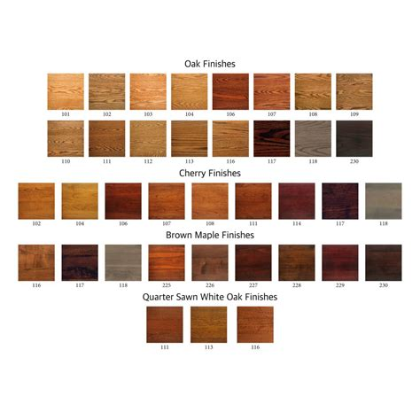furniture colors amish crafted furniture stains and poly colors amish
