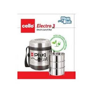 Steel Toaster Cello Electro 3 Electric Lunch Box 3 Container Shreeji