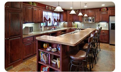 remodeling kitchen island kitchen remodel in mn features large island with storage and sink new cabinets tile floor