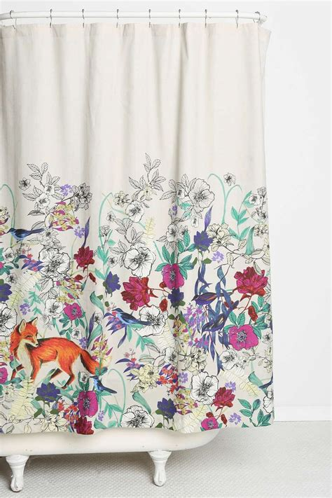 urban outfitters shower curtain plum bow forest critters shower curtain