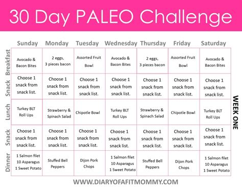 one challenge 30 day paleo challenge diary of a fit bloglovin