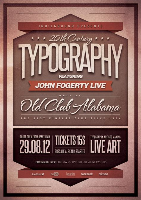 typography flyer poster vol 1 photoshop psd template