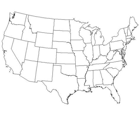 a printable map of the united states large blank us map