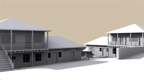 house home 3d obj village home free 3d model max obj 3ds fbx ma mb dwg