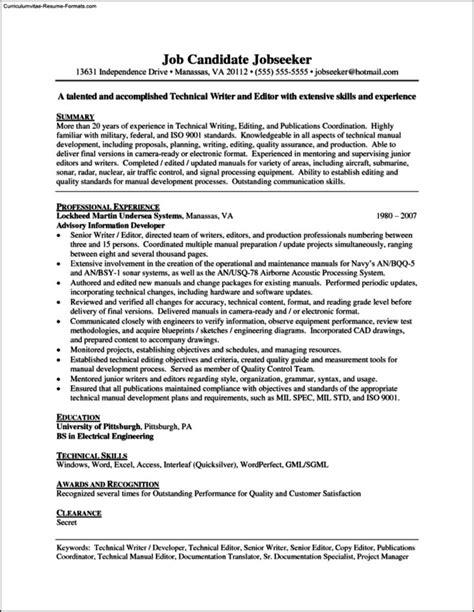writers resume template writers resume template free sles exles format