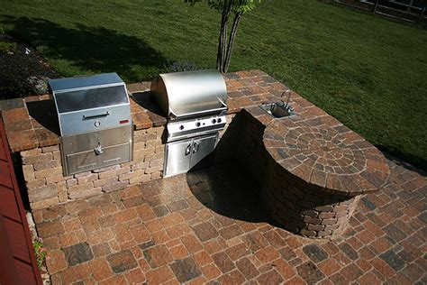 Custom Kitchen Islands With Seating patio outdoor kitchens fireplaces leawood kansas ks