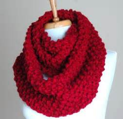 Knit Infinity Scarf Patterns Infinity Scarf Cranberry Knit Chunky Textured