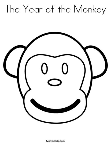 coloring page year of the monkey the year of the monkey coloring page twisty noodle
