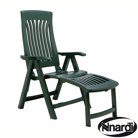 reclining outdoor chair with footrest flora chair with footrest in green
