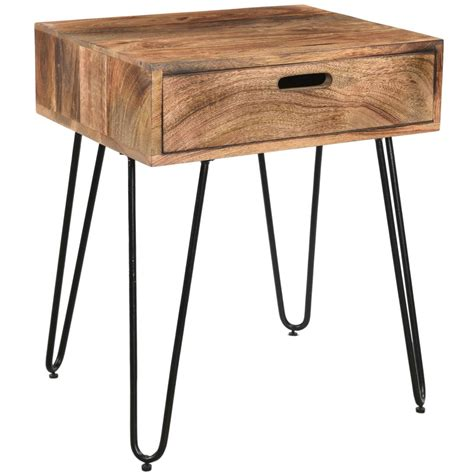 accent end table nspire jaydo accent table natural burnt 501 137nt