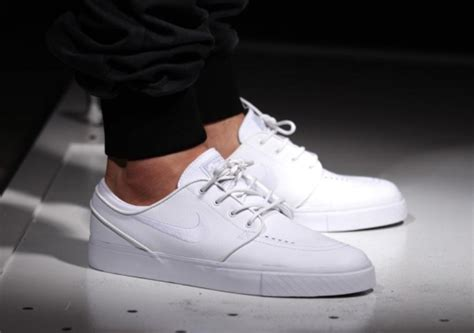nike sb zoom stefan janoski leather  whitewhiteout