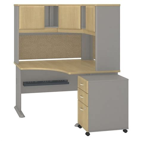 48 Desk With Hutch Bush Business Series A 48 Quot Corner Desk With Hutch And Pedestal Sra040losu