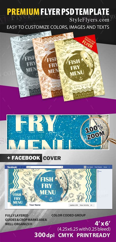 Fish Fry Menu Psd Flyer Template 13084 Styleflyers Fish Fry Menu Template