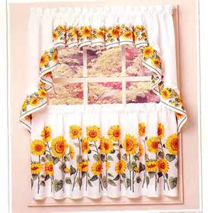 sunflower kitchen curtain modern yellow kitchen curtains