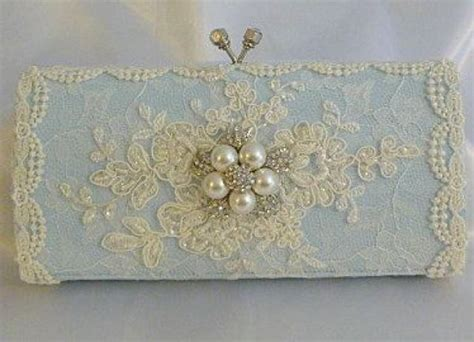 Vintage Lace Clutch From Again Nyc by Something Blue Wedding Clutch Bag Vintage Lace With