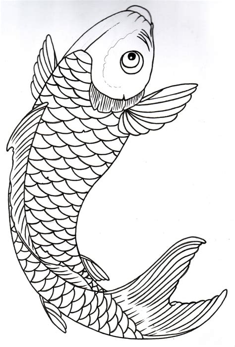 koi fish outline tattoo designs koi outline 10 by vikingtattoo on deviantart