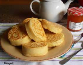 Old fashioned home made english crumpets for tea time recipe food
