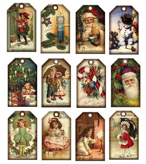vintage printable christmas tags christmas vintage art