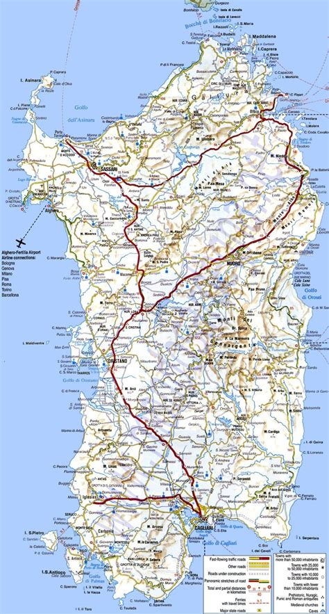 printable road map of sardinia map of sardinia nice and large maps cartography