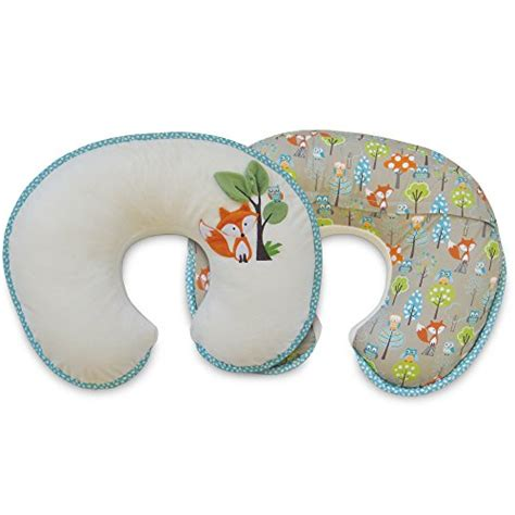 with mk boppy nursing pillow and positioner luxe fox and