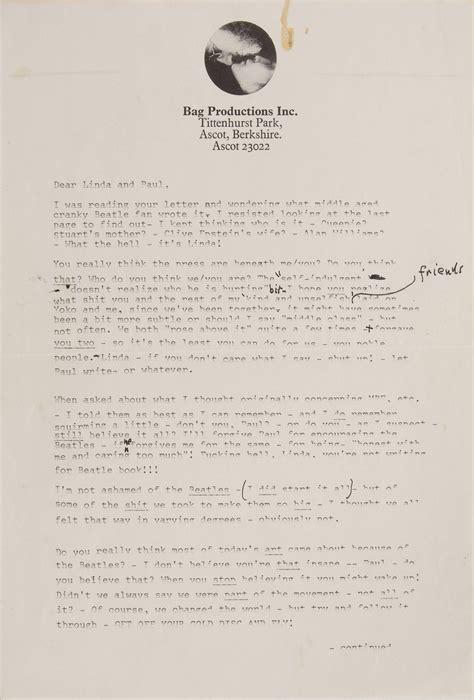 the breakup letter lennon s beatles breakup letter sold at auction for