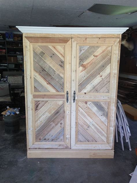 how to build a wardrobe armoire repurposed pallet wardrobe closet painted furniture pallet