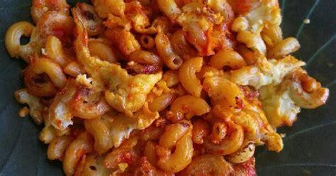 maklor macaroni telur  resep cookpad