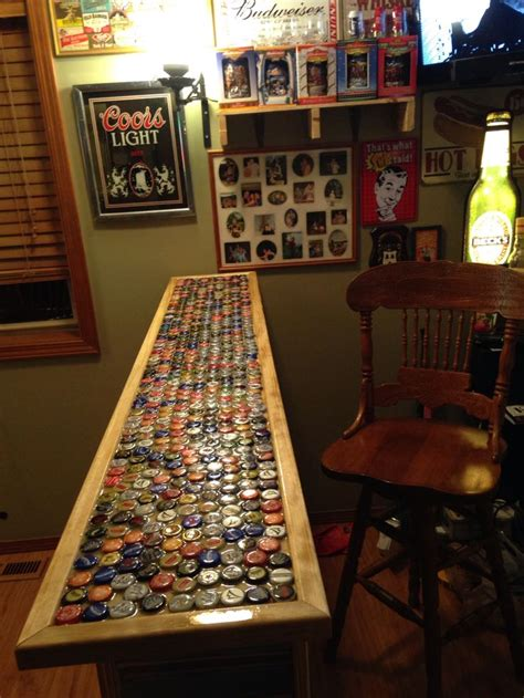 how to make a bottle cap bar top beer bottle cap bar top bar pinterest bottle bottle