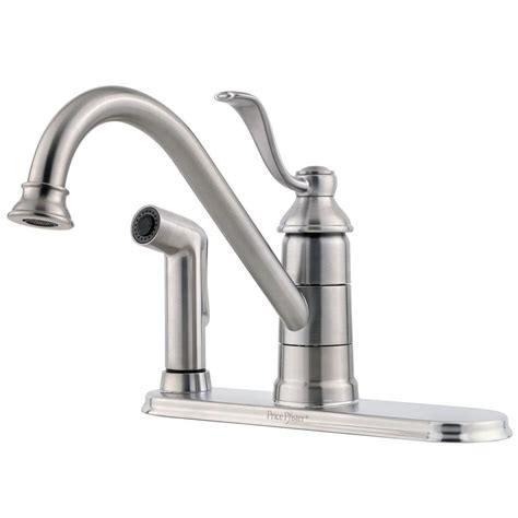 pfister portland single handle standard kitchen faucet in