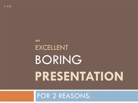 Boring Peripherals Need Not Apply by An Excellent Boring Presentation