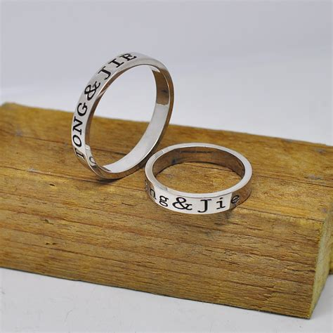 wholesale sterling silver personalized ring