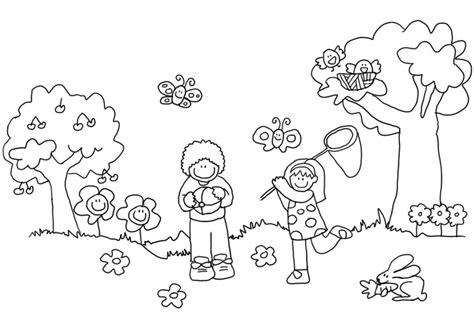 imagenes para colorear primavera primavera para colorear