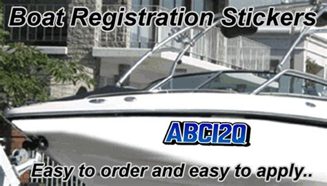 boat registration qld queensland boat rego full colour registration qld stickers