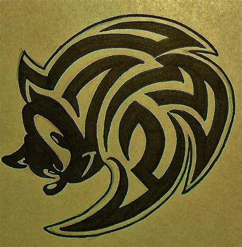 sonic tribal tattoo design 2 com by blackstar by