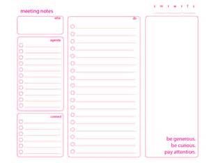 meeting note taking template moxieworks taking great meeting notes