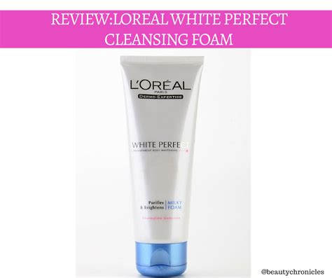 L Oreal White Foam chronicles loreal white purifying