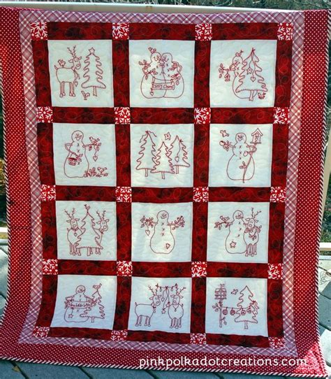 Redwork Quilt by Redwork Quilts Quilts