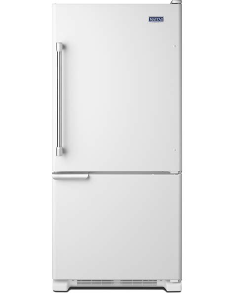 door refrigerator bottom freezer maytag mbf1953deh 19 cu ft single door bottom