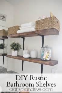 Diy Shelves For Bathroom Diy Rustic Bathroom Shelves Craftsmandrive