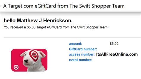 Swift Gift Cards - free 5 target gift card from swift shopper
