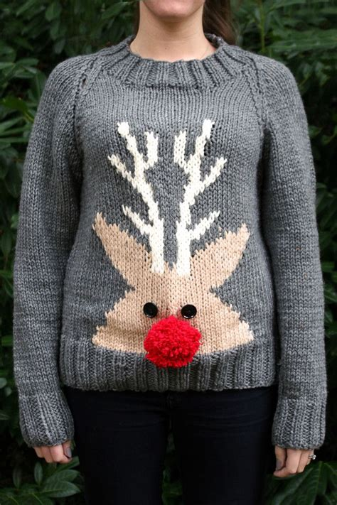 knitting pattern reindeer christmas jumper 45 best christmas jumpers images on pinterest jumper