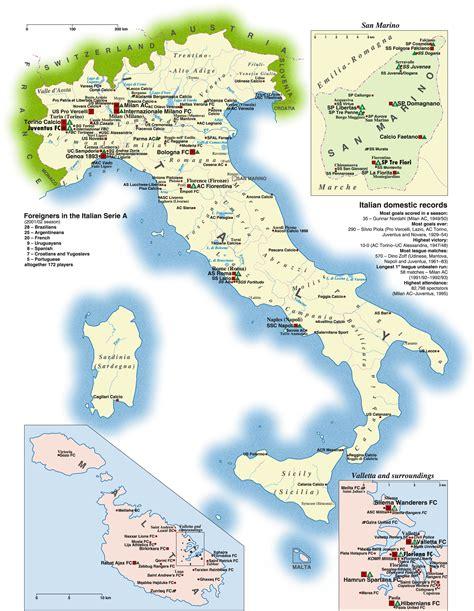 world map of italy san marino italy map