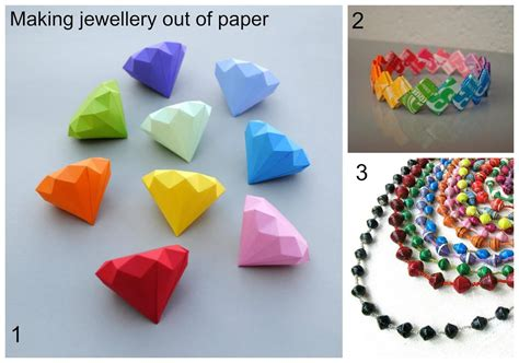 How To Make Jewelry Out Of Paper - summer jewellery part two using paper to