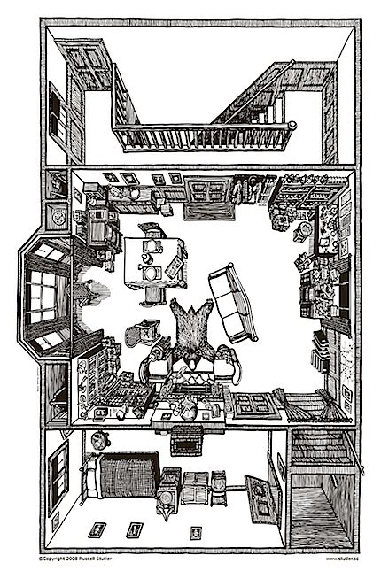 221b baker street floor plan 221b baker street floorplan of sherlock holmes apartment in london illustrationist